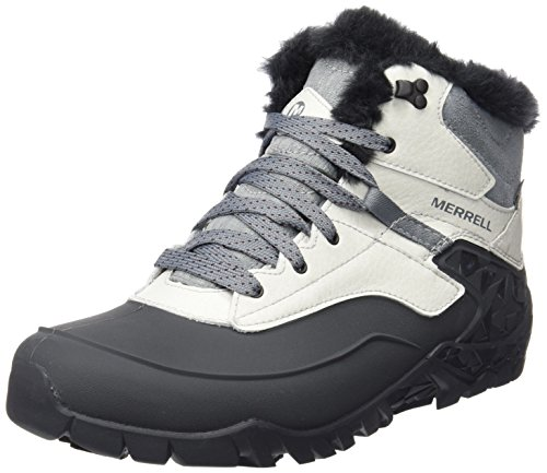 Merrell Aurora 6 Ice+ Waterproof Damen Trekking- & Wanderschuhe, Grau (AshFlash), 37.5