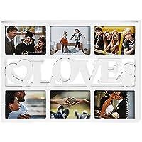 Corazón Marco de fotos,Portaretratos corazón, para 6 FOTOS - imágenes Forma De Corazón