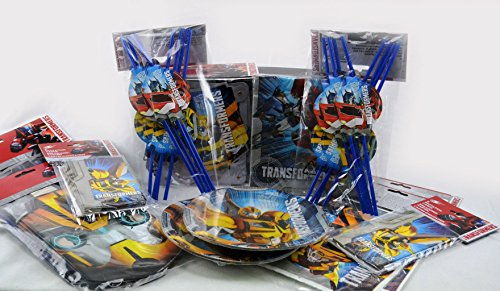 formers XL mit 64 Teilen, Geburtstag, Mottoparty (Transformers Bumblebee Maske)