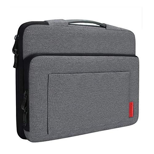 iCozzier 13-13.3 Zoll Laptoptasche mit seitlichen Zubehörfächern und Tragegriff/Schutzhülle für 13-13.3 Zoll Ultrabook/Notizbuch/MacBook - Dunkelgrau (Notebooktasche 13 Macbook Schwer Pro)