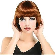 el carnaval peluca charleston pelirroja