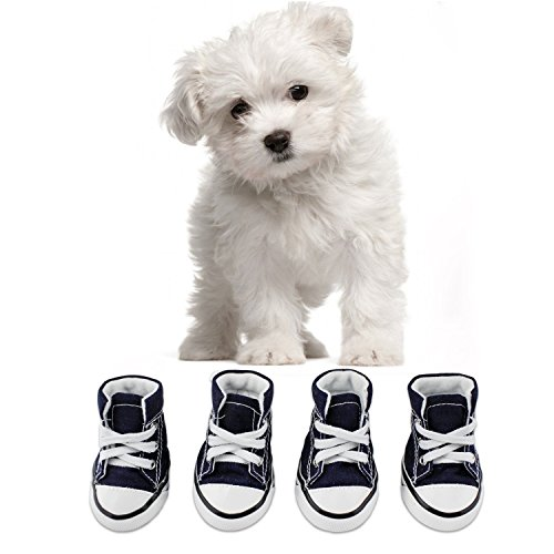 KEESIN Puppy Pet Dog Nonslip Canvas Sport Shoes Outdoor Sneaker Boots Causal...