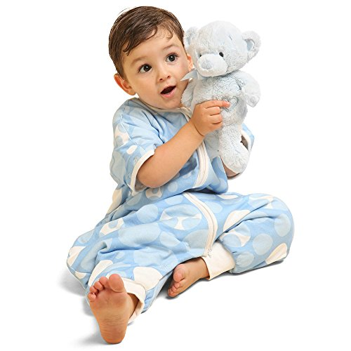 i-baby Sleeping Bags with Legs Kids Children's Slumber Bag with Removable Sleeves 2.5 Tog Swaddling Wrap Cotton Toddler Sleepwear Sack Outlast Constant Temperature Winter Spring for Boys Girls 1 2 3 4 Years