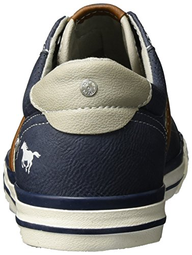 Mustang 4072-301-800, Low Athletic Sneakers Blue (800 Dunkelblau)