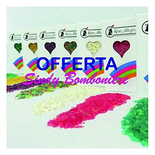 2 pacchi riso allegro colorato con chicchi vari colori per lancio agli sposi vari colori … (riso colorato)