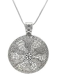 105eea1627d7 Lámpara de techo de círculos de flores tamaño grande de tamaño maxi collar  con colgante en forma - perfecto…