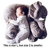Missley Cute elefante almohada bebé dormir Elephant rellenas almohadas de peluche suave peluche cosas juguetes para adultos (Grey, 40CM)