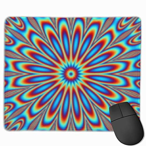 Gaming-Mauspad, Mauspads Mouse Pad Colorful Peacock Feather Radial Rectangle Non-Slip Personalized Designs Gaming Rubber Mousepad Stitched Edges Mouse Mat 25 x 30cm -
