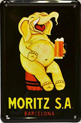 Imán Cartel Poster publicitario de chapa metálica con diseño retro