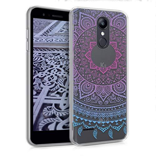kwmobile LG K8 (2018) / K9 Hülle - Handyhülle für LG K8 (2018) / K9 - Handy Case in Blau Pink Transparent