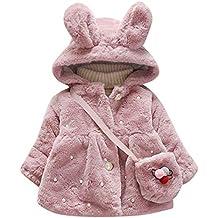 Abrigo de algodón acolchado de manga larga para niñas, chaqueta de princesa con bolsas,