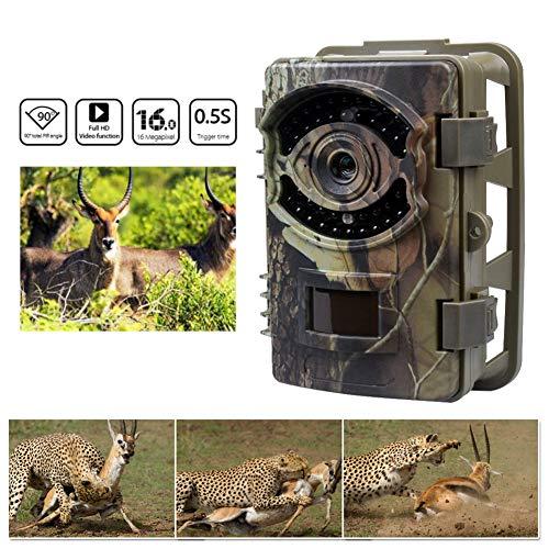 Wildkamera Fotofalle Jagdkamera 2,4 '' LCD Display 16MP 1080 P HD 0,5 Sekunden Trigger Zeit 90 ° Weitwinkel Objektiv IP 56 Wasserdichte Design PIR Sensor Wildkamera Premium Bewegungsmelder Fotofalle