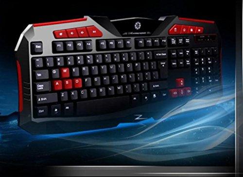 fulltime® azzor Z 2.4G Gaming Clavier sans fil et kit de souris avec Media Control Keys, 26x 98x 445mm (Clavier), noir 6