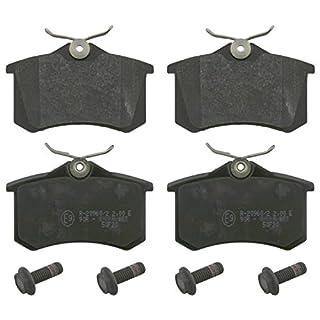 febi bilstein 16488 Bremsbelagsatz mit Schrauben (hinten, 4 Bremsbeläge), ohne Verschleißwarnkontakt