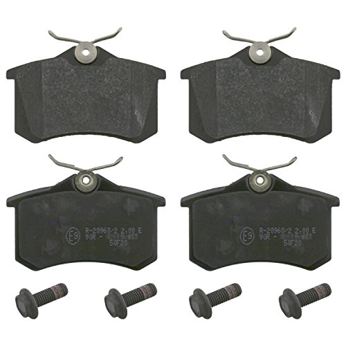 febi bilstein 16488 brake pads with screws (Set of 4) (rear axle)