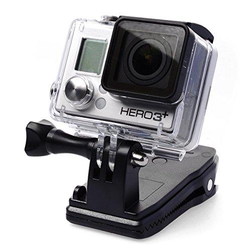 XCSOURCE 360 gradi Rotary Zaino Hat Rec-Monti della clip del morsetto Supporto per GoPro Hero 2 3 3 + OS101