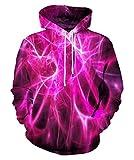 EOWJEED Unisex-Paar 3D Galaxy Print Pullover Hoodie Kapuzen-Sweatshirt Kleine