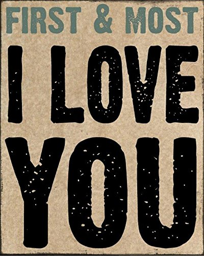 "Blossom Bucket 391,2–95.034,1 cm I Love You ""Mauer Box Sign, 7–3/4 x 9–3/10,2 cm"