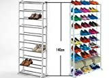 #4: MOHAK Amazing Shoe Rack Portable with 10 Layer Holds Approx 30 Pairs Shoes