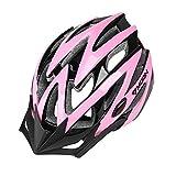 Uzexon Casque de vélo de montagne pour adultes, Casques de VTT / route / motocyclettes Ultralight à haute qualité EPS et PC Sécurité réglable Unisexe Taille (Rose, M)