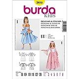 Burda 2410 Schnittmuster Kostüm Fasching Karneval Prinzessin Tänzerin (Kids, Gr. 98-128) - Level 3 mittel