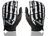 Asher Death Grip Black Herren Handschuhe - Paar (Bikehandschuhe, Fahrradhandschuhe, Autohandschuhe, Golfhandschuhe) (S (7-7.5))