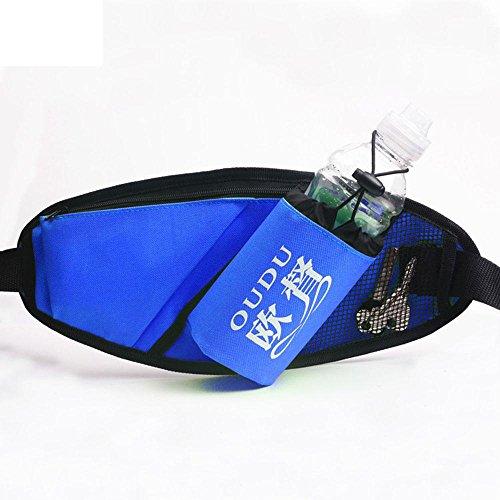 BUSL Wandern Hüfttaschen Frau männliche Sporttasche Multifunktions-Laufband Mini versteckte wasserdichte Handytaschen Kessel Outdoor-Fitness Blue