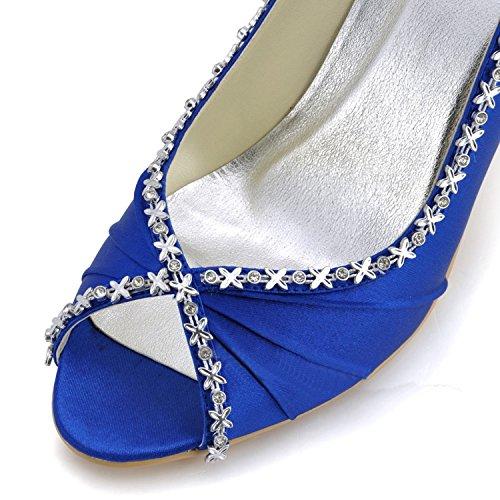 Kevin Moda, Casamento Sapatos Da Moda Das Mulheres Azul