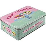 Nostalgic-Art 30708 Home & Country - Fairy Cakes - Fresh every Day, Vorratsdose Flach