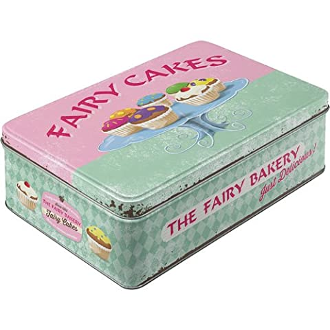 Nostalgic-art-bilderpalette 30708 home, country fairy cakes-fresh every day-boîte de conservation-plat