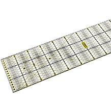Lialina Regla de Patchwork 15 x 60 cm Graduada en Centímetros, Plantilla Rectangular para Acolchar