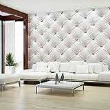 decomonkey | Fototapete Leder weiß grau Deluxe 400x280 cm XXL | Design Tapete | Fototapeten | Tapeten | Wandtapete | moderne Wanddeko | Wand Dekoration Schlafzimmer Wohnzimmer | FOB0149a84XL