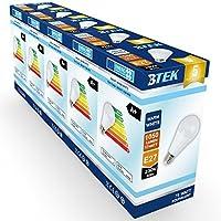 [Sponsorizzato]BTEK® (pacchetto di 5) E27 Edison a vite 12W (lampadina a incandescenza 75W equivalente) LED lampadina non dimmerabile, bianco caldo satinato con 5 anni di garanzia