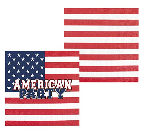 Generique - Papierservietten American Party 33 x 33 cm