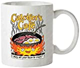 Calcifer's Cafe Calcifer Dan Wolfe Howl'S Moving Castle Travel Mug Cool Mug by Hot Joye