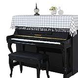 LCTCGQ Klavierabdeckung aufrecht Staubwischtuch Quaste Stoff im klassischen Stil modernes geometrisches Design (Farbe : A-90 * 200CM)
