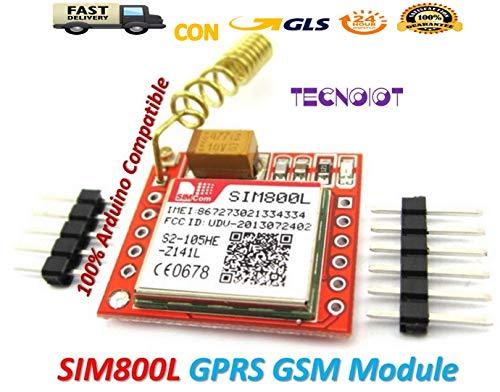 Band Unlocked Gsm-bluetooth (SIM800L GPRS GSM Module PCB Antenna SIM Board Quad band | SIM800L GPRS-Modul GSM-Karte Micro-Sim-Karte Quad-Band-TTL-serieller Port mit Antenne für Arduino MCU)