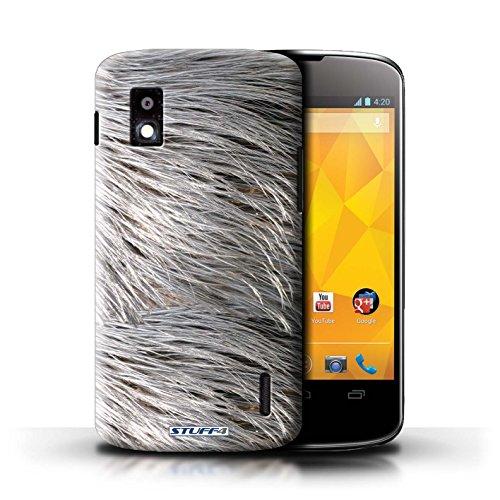 Kobalt® Imprimé Etui / Coque pour LG Nexus 4/E960 / Tigre conception / Série Motif Fourrure Animale Plumes