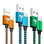 rephoenix cable micro USB [3St š ¹ Cke] rephoenix cable de micro USB es la f š ¹ R La mayoría de Android ger? te, la rápida USB 2.0High Speed ofrece un Z š ¹ del transferencia de datos de hasta 480Mbps. duradera kabelh š ¹ de cojín (Sch š...