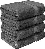 Utopia Towels - Premium Badetücher (4er Pack, 69 x 137 cm) 100% Ring Spun Baumwollhandtuchset für Hotel und Spa, maximale Weichheit und hohe Saugfähigkeit von (Grey)