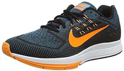 Nike Air Zoom Structure 18, Chaussures de running entrainement homme, Multicolore (blue Lagoon/orange/black/bright Crimson), 44