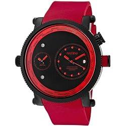 Red Line-rl-50037-bb-01-rd-Zeigt Herren-Quartz Chronograph Armband Gummi rot