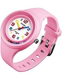 Amazon.es  Rosa - Relojes de pulsera   Niño  Relojes e079e3b6a81e