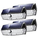 Mpow Solarleuchte Außen【NEUE VERSION】Mpow 66 LED Solarlampen für Außen IP67 Wasserdicht 120 ° Weitwinkel Sensorkopf Solarleuchte mit Bewegungsmelder Superhell Solarlampe für Garten, Garage, Balkon, Hof