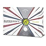 Callaway Golf 2019 Supersoft Balles de Golf, Homme, Jaune, One Dozen