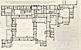 Ken Welsh / Design Pics – Plan Of Principal Floor Of Hampton Court Palace As It Was During Reign Of King Henry Viii. From History Of Hampton Court Palace In Tudor Times By Ernest Law. Published London 1885. Photo Print (45.72 x 27.94 cm)