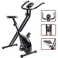 TechFit XB200 F-Bike, Vélo d'appartement, 2.5 Kgs volant, Vélo d'exercice fitness, Vélo d'entraînement pliant, Vélo de récupération, Cardio-machine, Home Trainer (Noir)