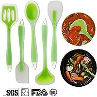 5 Pezzi Da Cucina In Silicone Per Casa-G.G.G. Premium Antiaderenti Non Tossico Silicone Compreso Spatola (Facile Loop Turner)