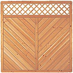 Sichtschutzzaun Holz Douglasie Gitter 180 x 180 cm (Serie: Doben)