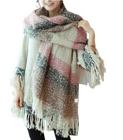 women-scarf-mohair-new-thick-sweater-shawl-moose-fringe-pink